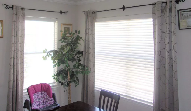 how to hang a curtain rod without a drill