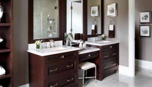 average height of bathroom vanity
