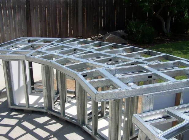outdoor kitchen steel framing
