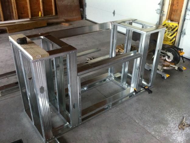 outdoor kitchen metal frame