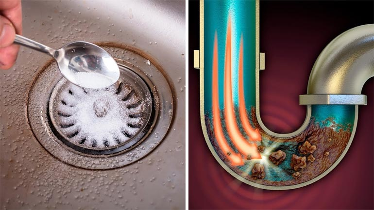 Solve clogged sink problems