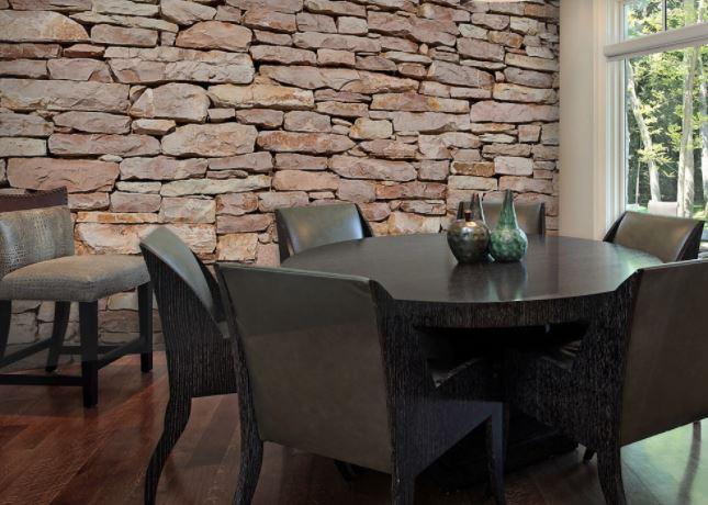 faux stone wallpaper