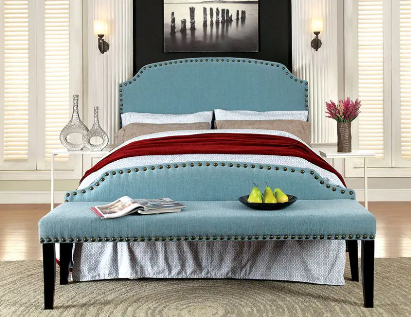 teal and gray bedrooms