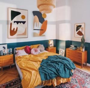dark teal bedrooms