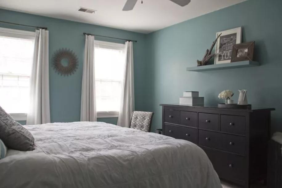 teal bedrooms