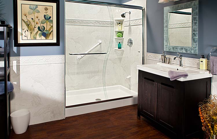 types of shower walls