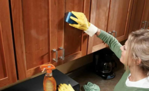how to clean wood cabinets and make them shine