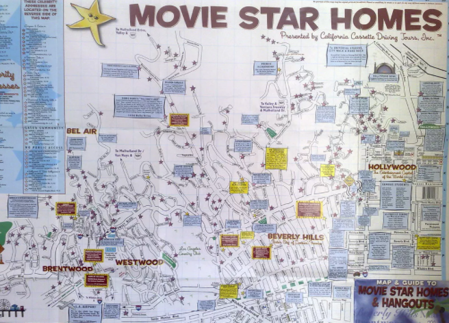 beverly hills celebrity homes map