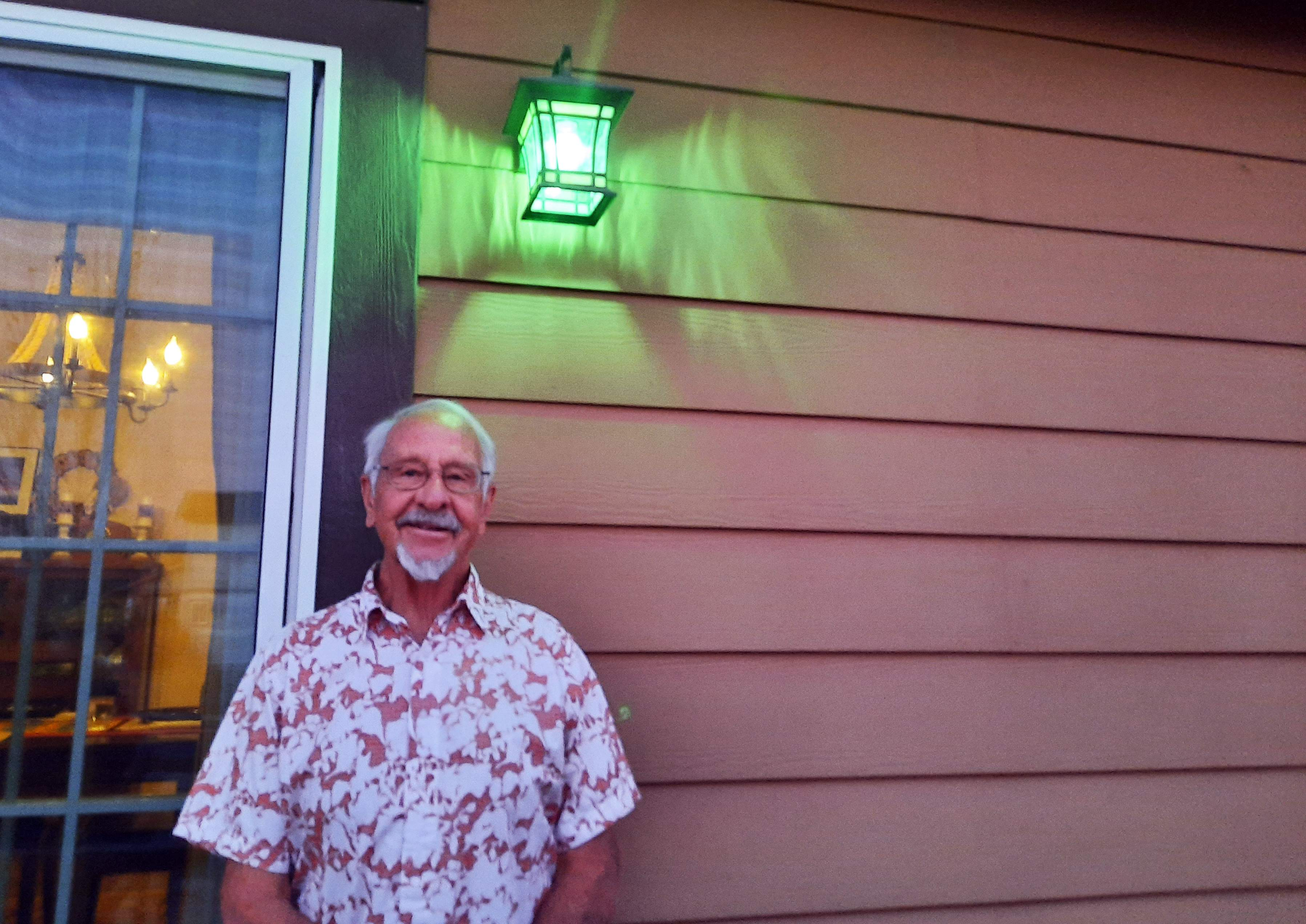 red porch light meaning