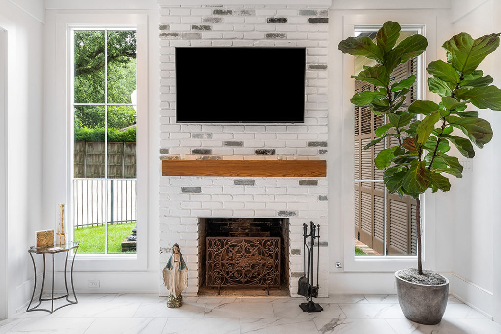 fireplace mantel heights