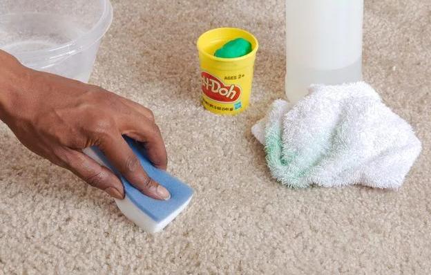 how to get playdough out of carpet