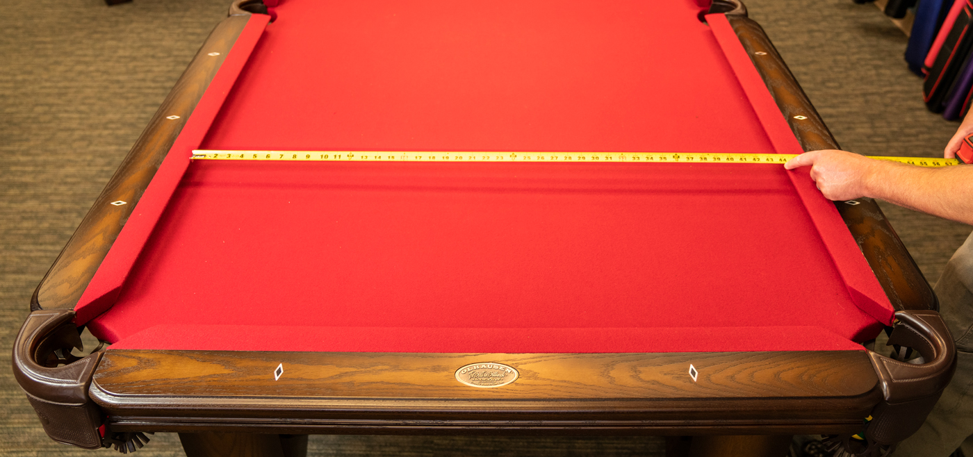 size pool table