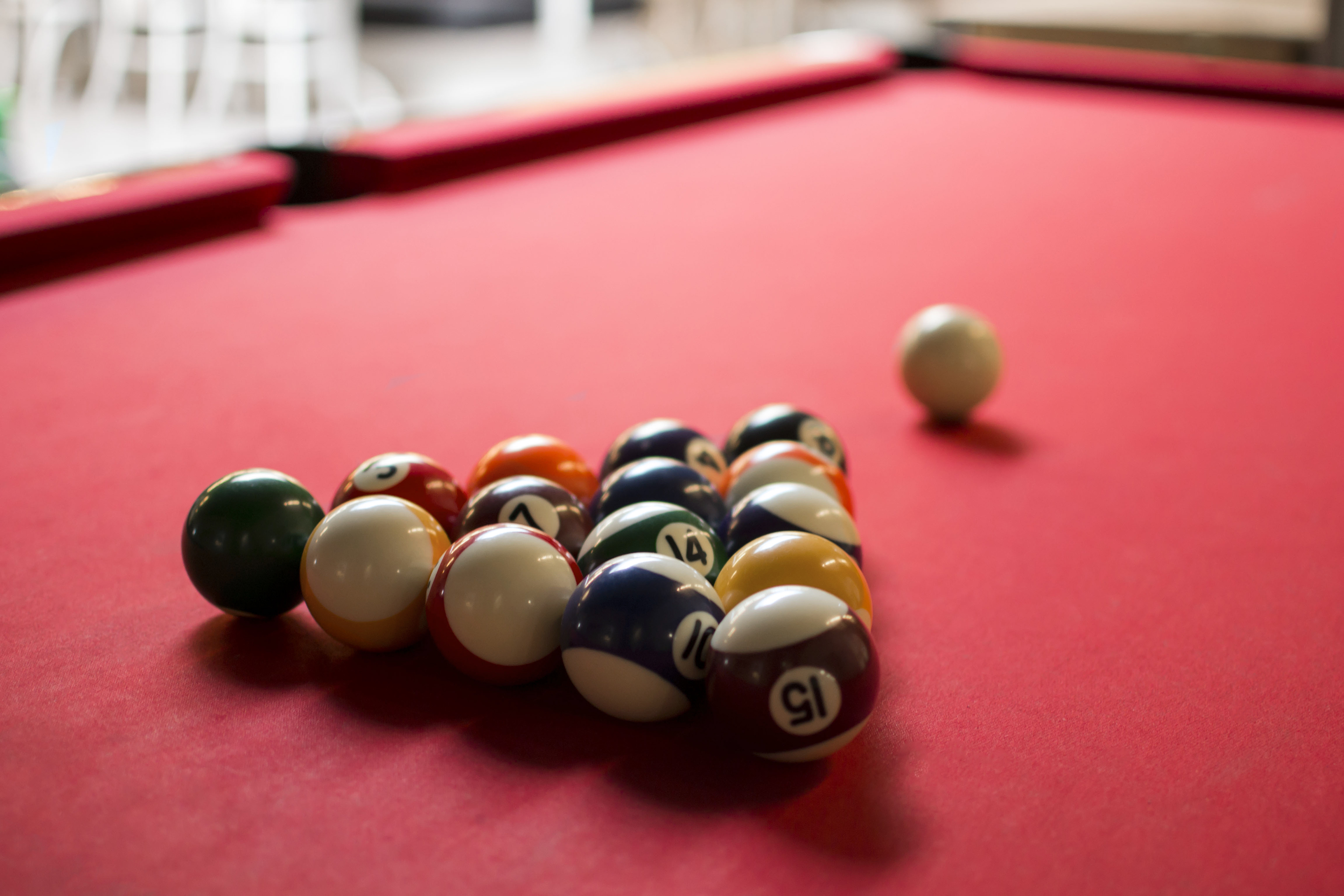 pool table sizes