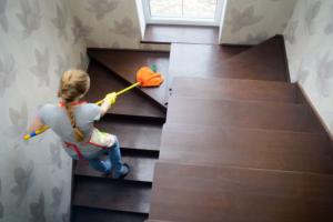 cleaning wood stairs